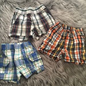 Toddler plaid shorts bundle 6-12M
